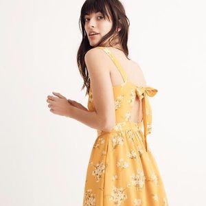 NWT Madewell Silk Fleur Bow-Back Dress